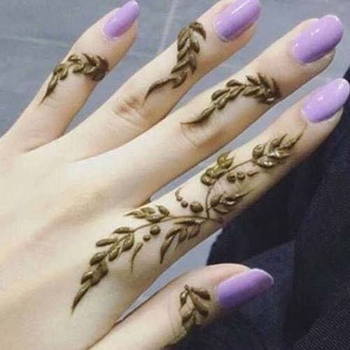 30+ Best Mehndi Designs for Fingers – Henna Finger Ideas #hennadesigns