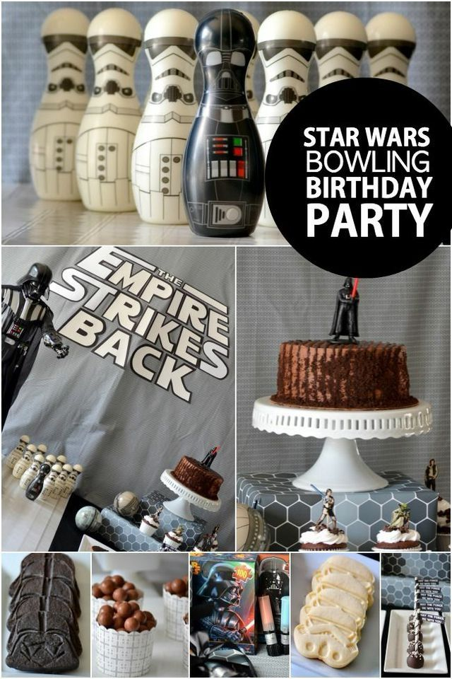 boys star wars bowling birthday party ideas - Star Wars Party Decorations