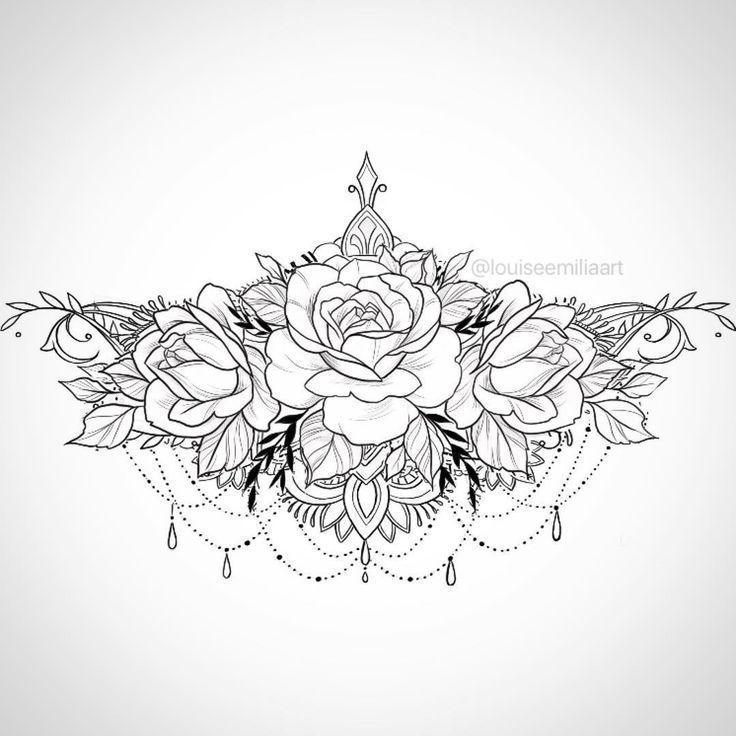 Underboob/Solar Plexus tattoo design ?? - Peanut Butter Popcorn - Blac