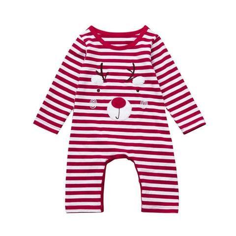 aeea9bc2fdb2 2017Newborn Christmas Boys Girls Baby Deer Christmas Clothes Long ...