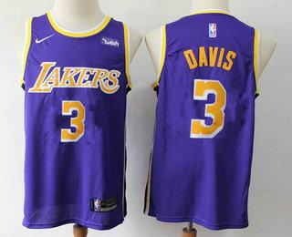 2020 Men S Los Angeles Lakers 3 Anthony Davis 2019 Purple Nike Swingman Wish Stitched Nba Jersey In 2020 Los Angeles Lakers Nba Jersey Anthony Davis