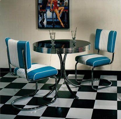 us diner esszimmer retro möbel set im 50er jahre design | küche, Esszimmer dekoo