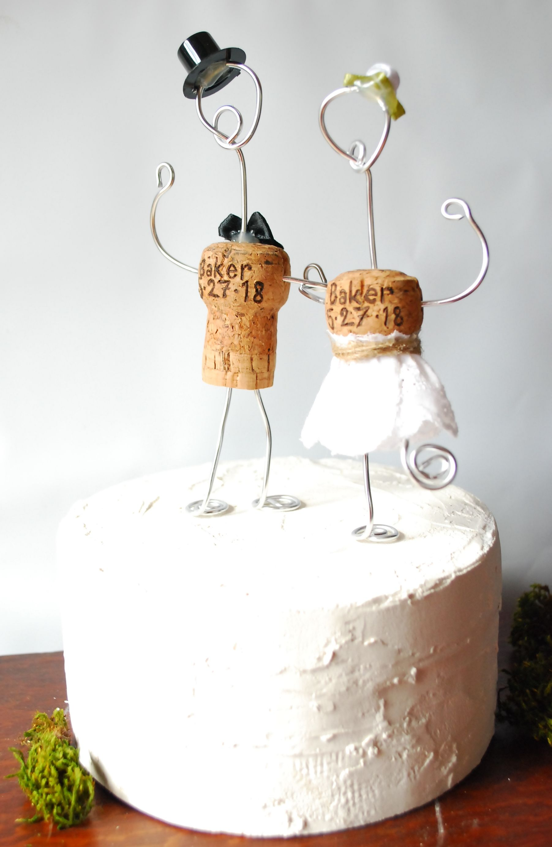 Rustic Champagne Cork Wedding Cake Toppers. These can be ...