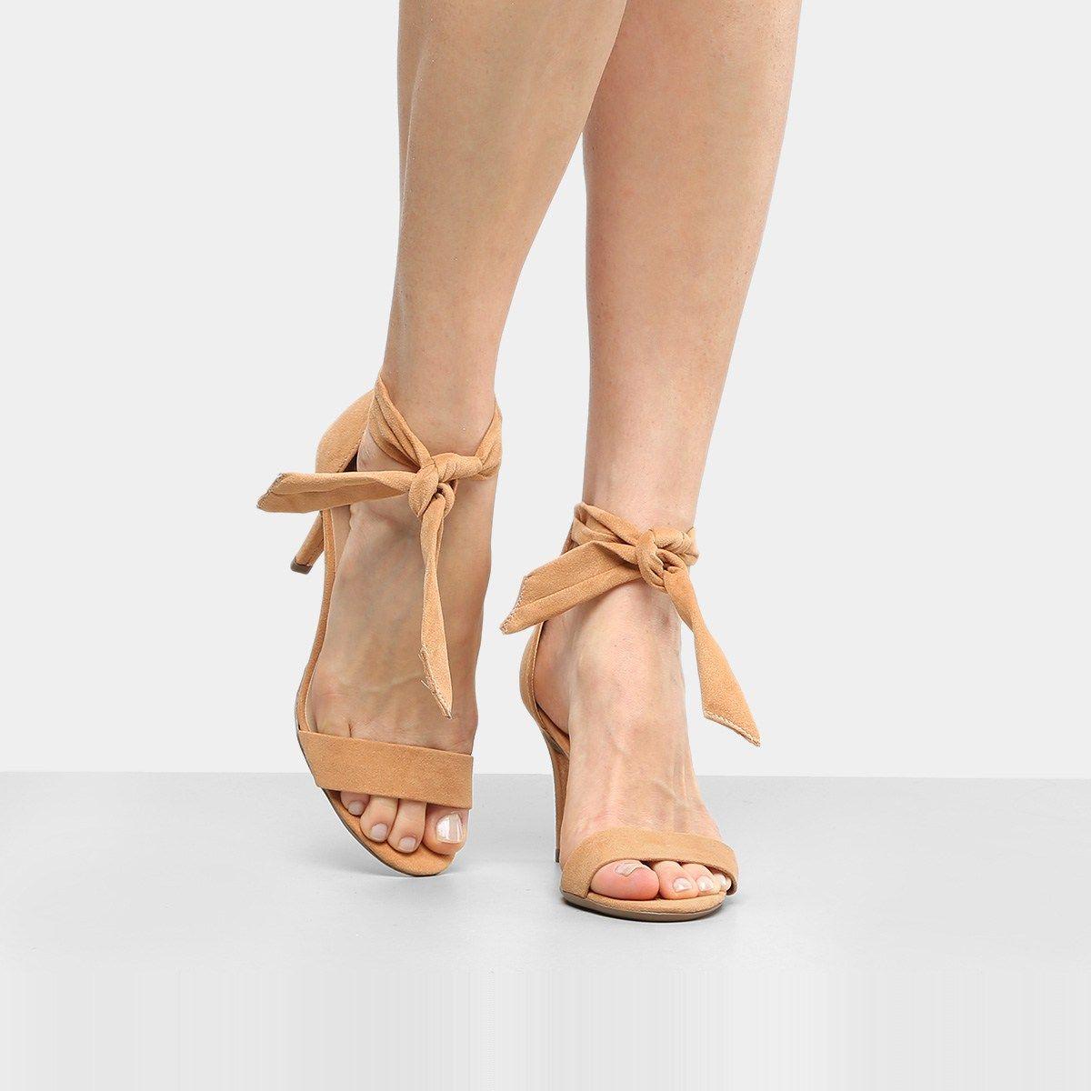 8f1207890604d Compre Sandália Drezzup Salto Fino Laço Feminina - Areia e muito mais em  roupas, calçados