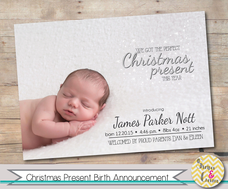 Christmas birth announcement photo christmas baby