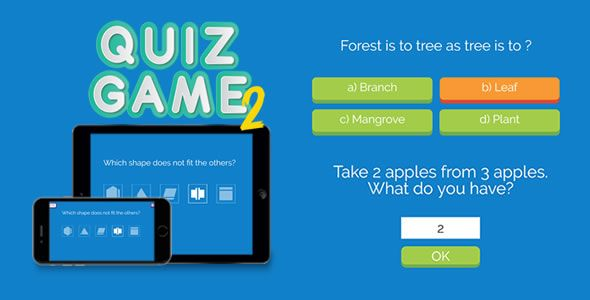 awesome Quiz Game two - HTML5 Game (Games) | ThemeForest ...