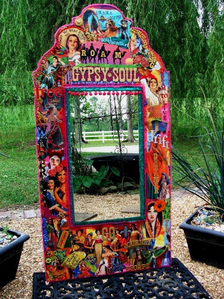 Colorful Traveling Gypsy Caravan Wall Mirror Wanderlust