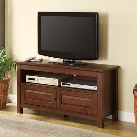 "44"" Brown Wood TV Stand for TVs up to 48"""