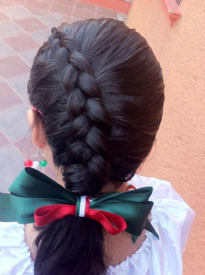 Trenza Fiestas Patrias 2014 Pelo De Nina Pequena Peinados Para Chicas Estilos De Trenzas