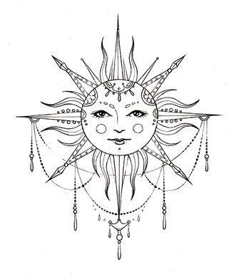 Bohemian Sun Tattoo