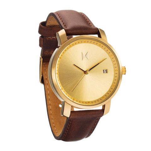Gold/Brown Leather | MVMT Watches