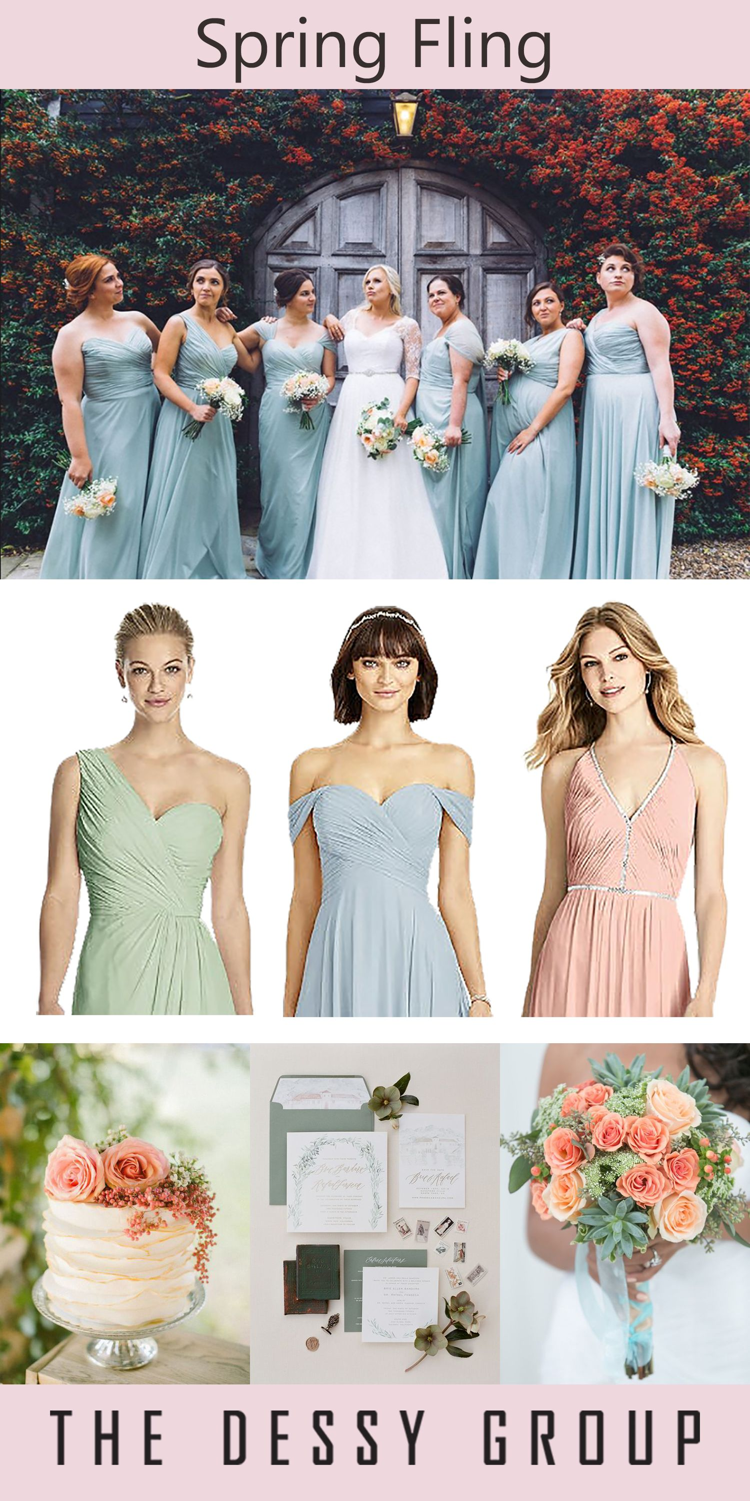 65105d52337 Spring Fling and Pastel Dreams for this Dessy Group look.