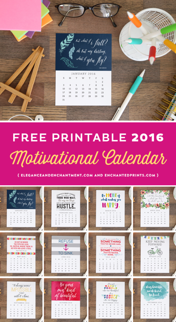 Diy Quote Calendar : The best calendars to print ideas on pinterest free