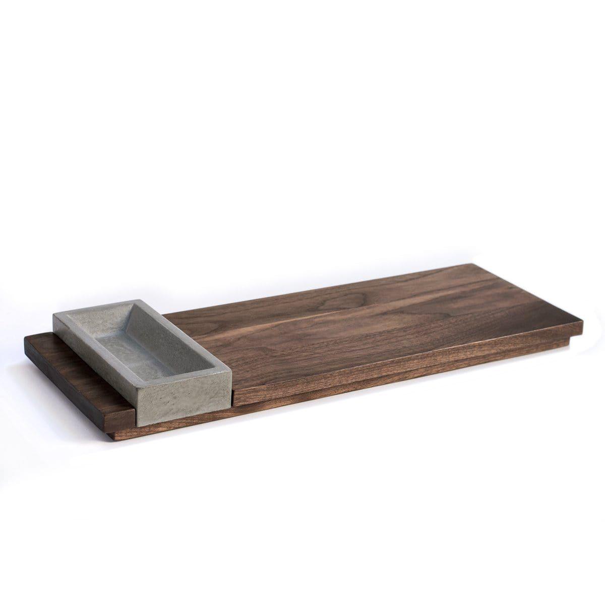 Concrete Bowl Wood Appetizer Tray In 2020 Concrete Bowl Serving Tray Wood Appetizer Trays