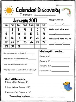 Calendar Discovery Monthly Calendar Worksheets Calendar Worksheets Calendar Math Calendar Activities