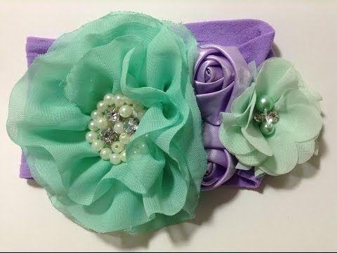 Como Hacer Una Tiara Bonita Para Bebes Creaciones Rosa Isela No 5 Youtube Diadema De Bricolaje Hacer Flores De Tela Manualidades