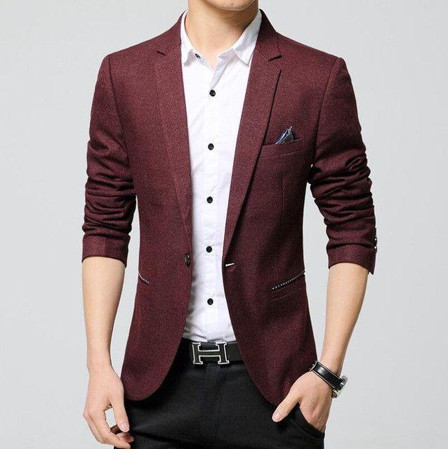 8a22eba02 Suits Men Casual Suits Blazers Leisure Jacket Fashion Blazers Coat Single  Button Suit Business Male Formal Suit Jacket
