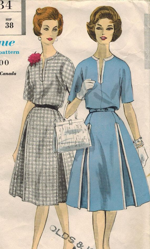 1960s Vogue 5034 Vintage Sewing Pattern Misses Afternoon Dress Size ...