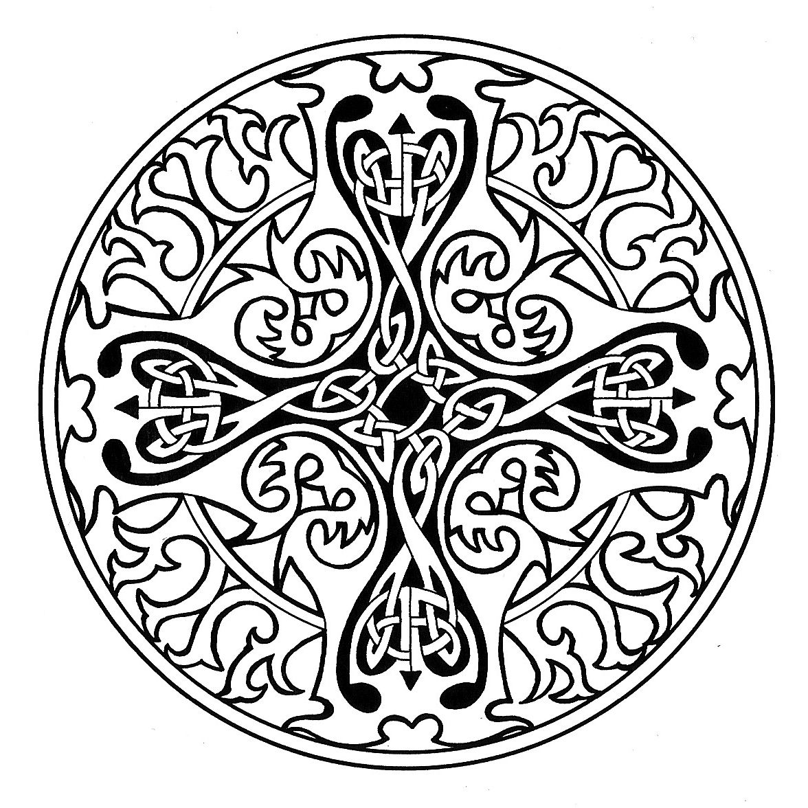 Celtic Cross Mandala (1176x1176) | iColor "|1176|1176|?|4255cf2c1e7cb9fc92bf4493d44abcdc|False|UNLIKELY|0.3323136270046234