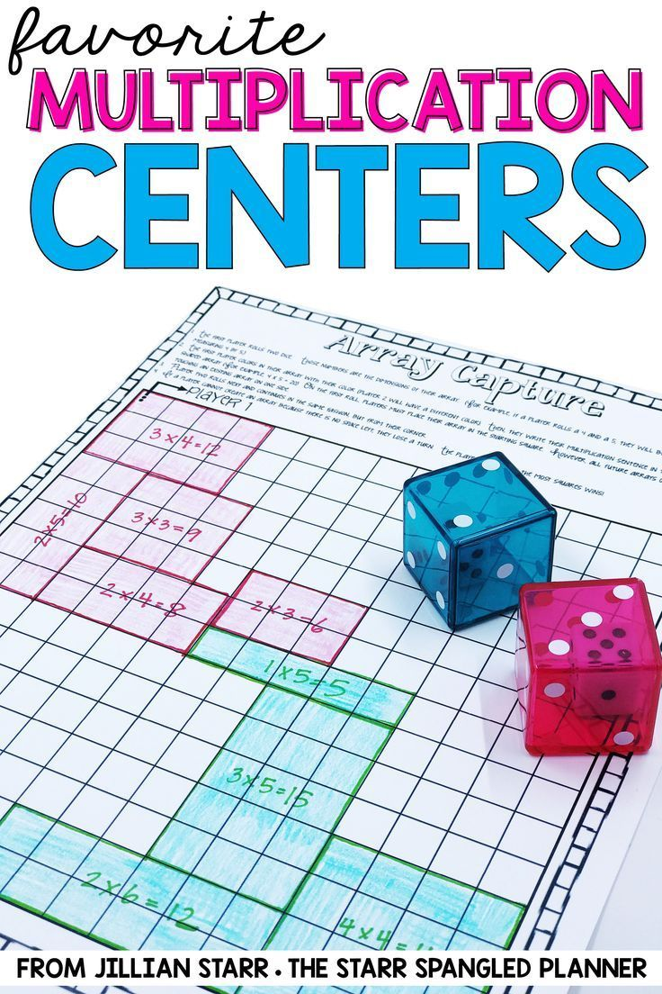 10 Multiplication Math Center Games & Activities | Fluency practice ...