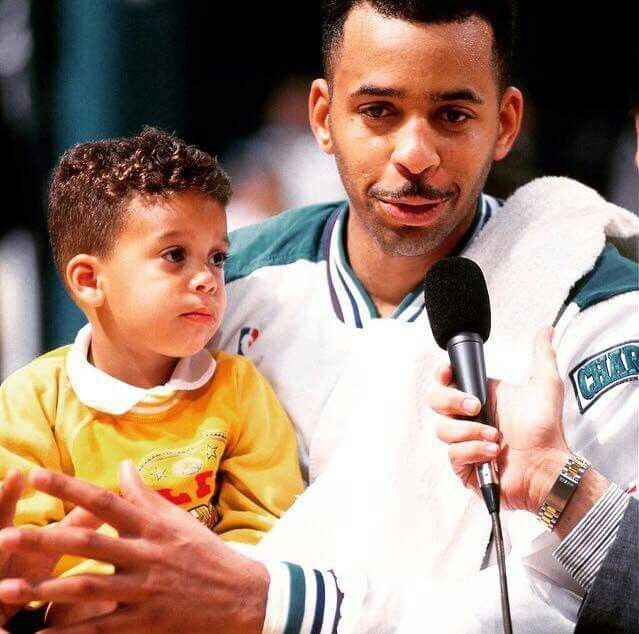 Del Curry and his son Stephen | The