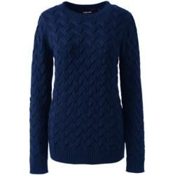 Photo of Cable Knit Sweater Drifter – Blue – 44-46 from Lands 'End Lands' End