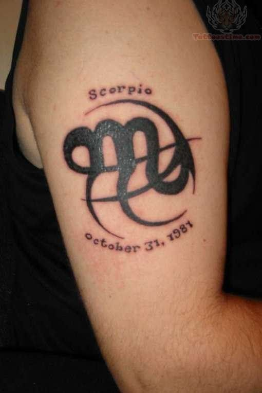 Scorpio Symbol Tattoos For Women Scorpio Zodiac Symbol Tattoo