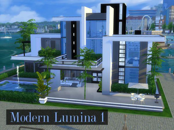 Johndu S Modern Lumina 1 Sims House Plans Sims House Design Sims 4 House Design