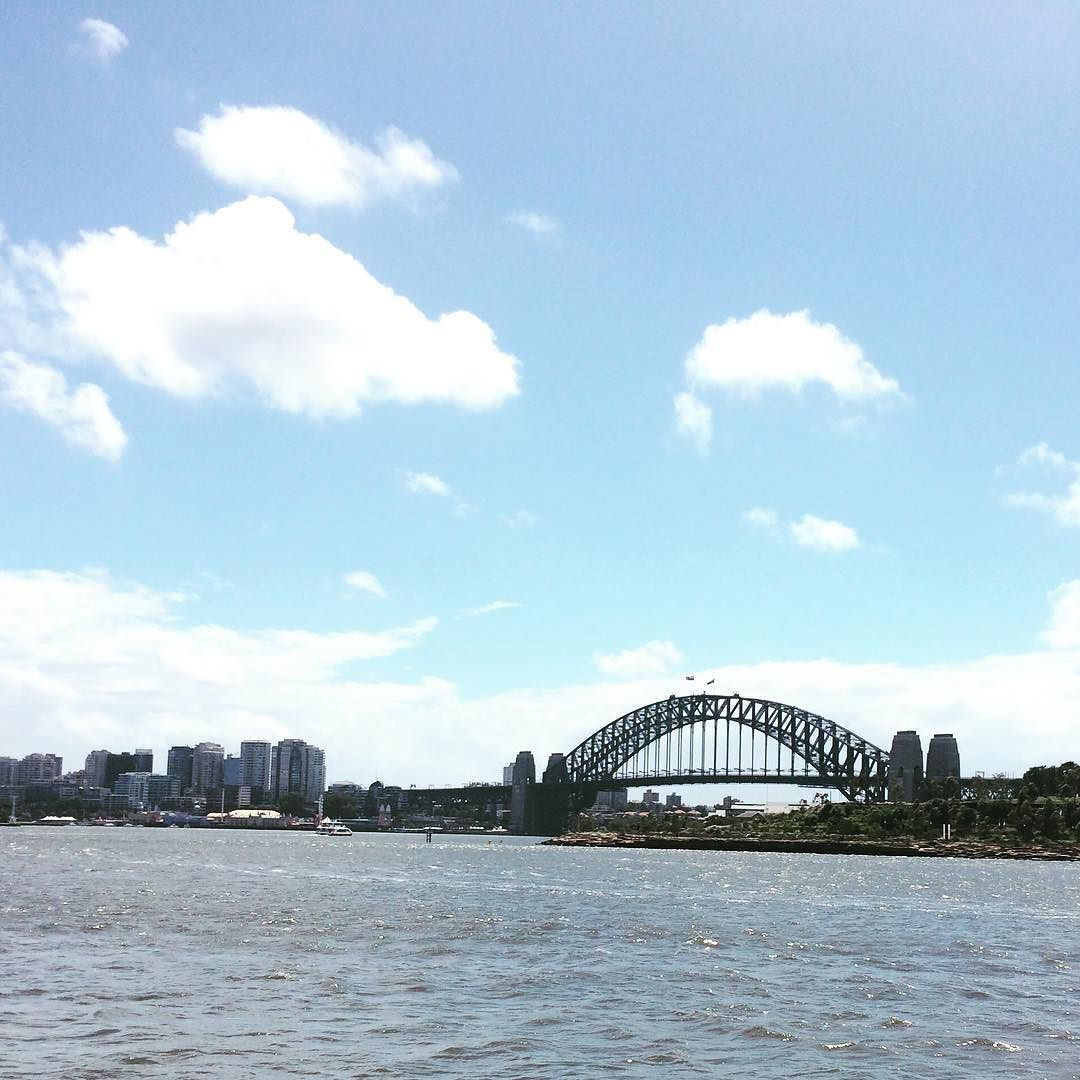 """""""Our home is girt by sea.""""  #australiaday #sydneyharbourbridge #home by outshine_me http://ift.tt/1NRMbNv"""