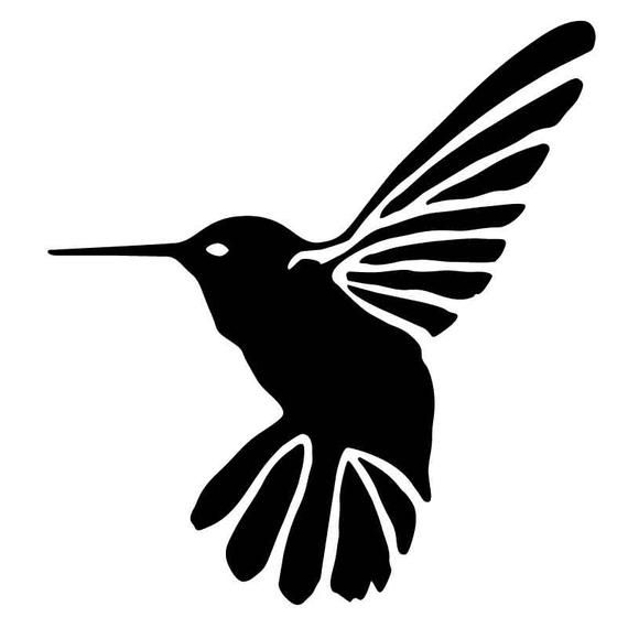 BIRD05 Reusable Laser-Cut Mylar Stencil Hummingbird