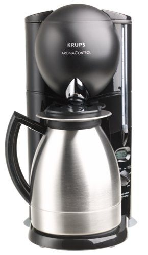Krups Aroma Control Coffeemaker With Thermal Carafe Black And Brushed Stainless Steel Discontinued Check This Awesome Image Coffee Maker