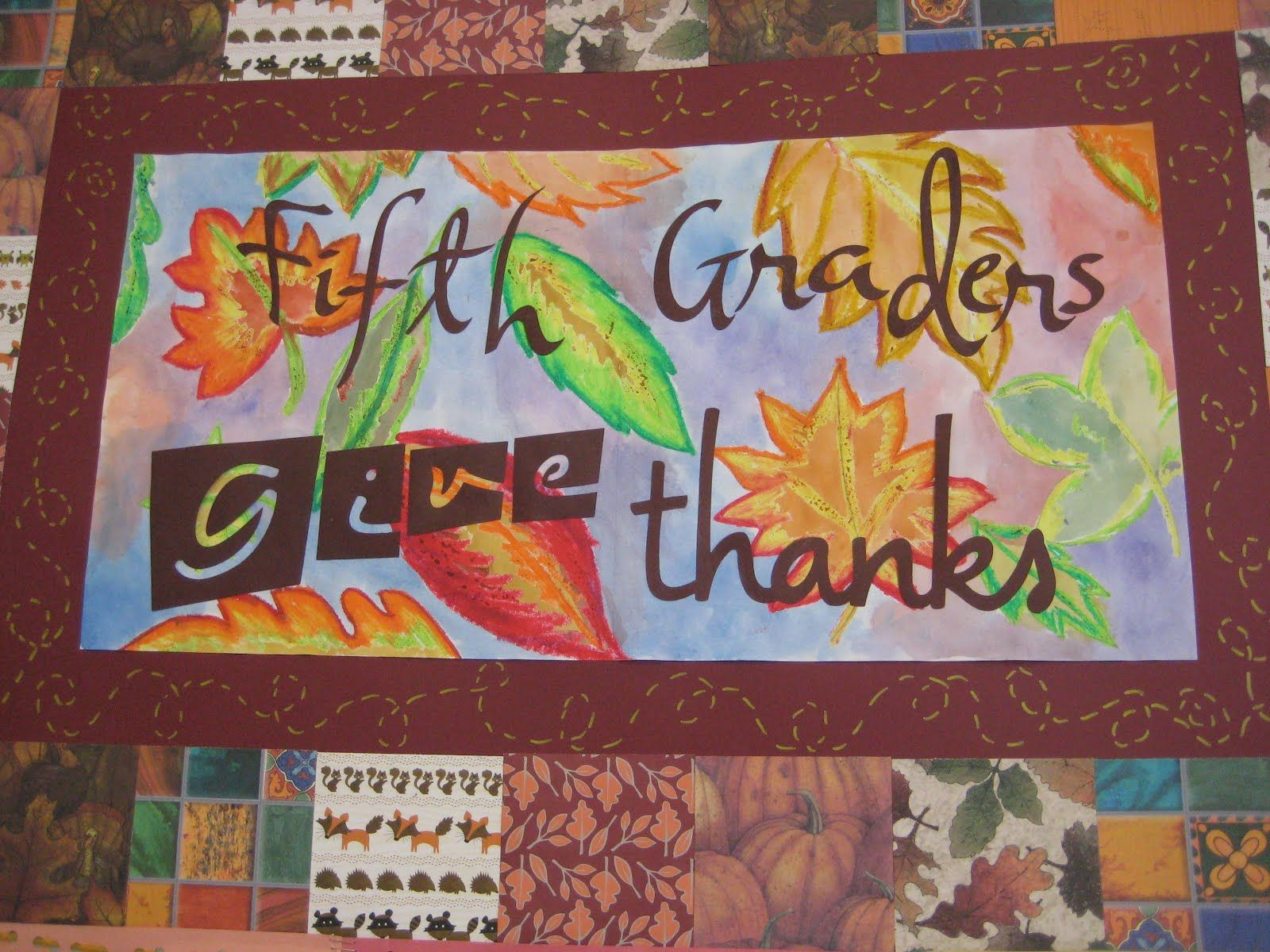5th Grade Thanksgiving Art Projects