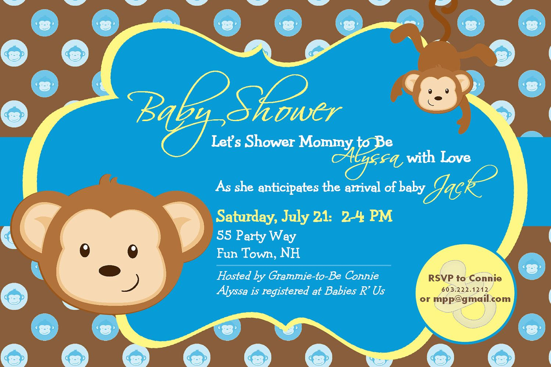 Baby Shower Invitation Monkey Printable - Shower Monkey. $14.00, via ...