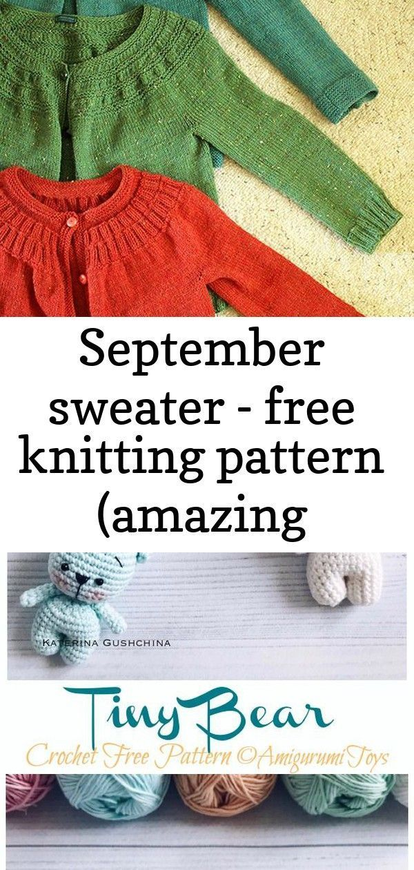 Photo of September sweater – free knitting pattern (amazing knitting) 1 :  September Swea…