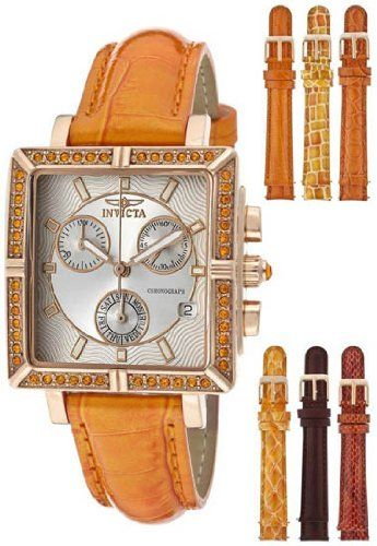 Save $596.00 on Invicta Women's 10334 Wildflower Orange Crystal Accented Chronograph Silver Dial Rosetone Case Orange Leather ...; only $99.00 + Free Shipping