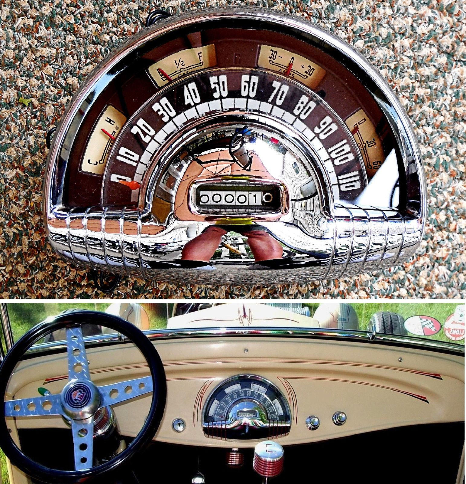 Beautiful 1949 1950 Oldsmobile Instrument Cluster 12v Rat Hot Rod 1932 Ford Hot Rods Oldsmobile Instrument Cluster