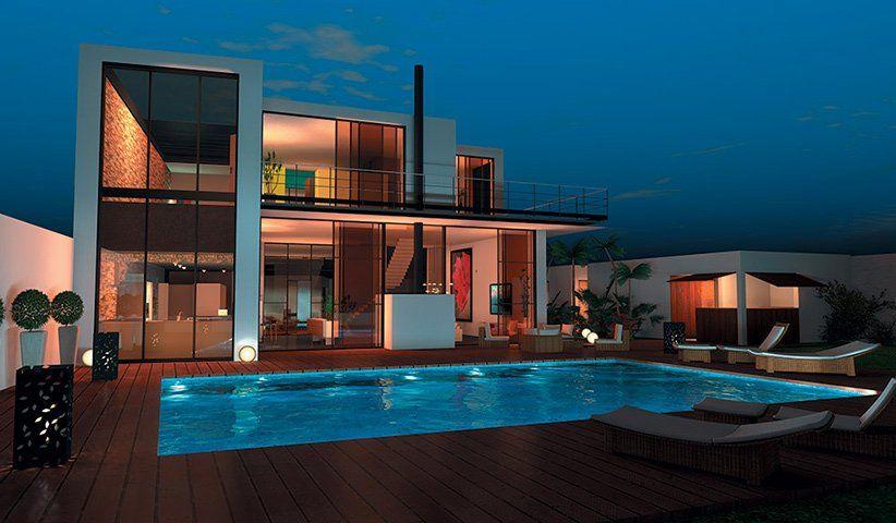 Maison CONTEMPORAINE à étage 300 m² 4 chambres - maison de 100m2 plan