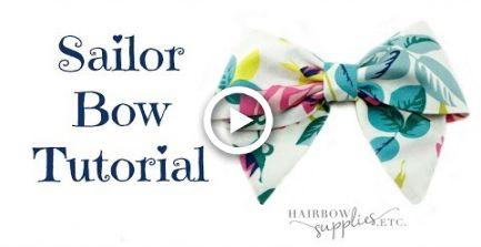 Sailor Hair Bow Tutorial - DIY How to Make a Fabric Bow - Hairbow Supplies, Etc.