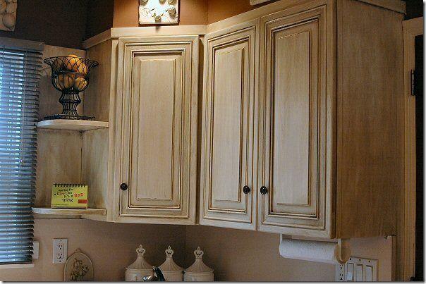 Antique Almond Cabinet Diva S Rust Oleum Cabinet Transformation Rustoleum Cabinet Transformation Cabinet Transformations Home Decor