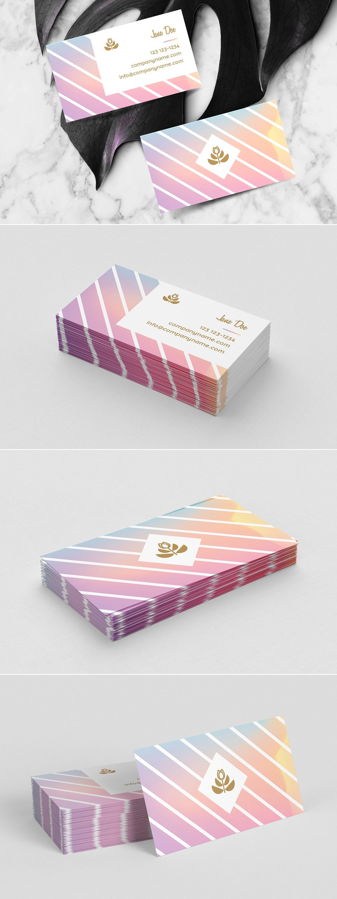 Feminine business card template | Card templates, Business cards and ...