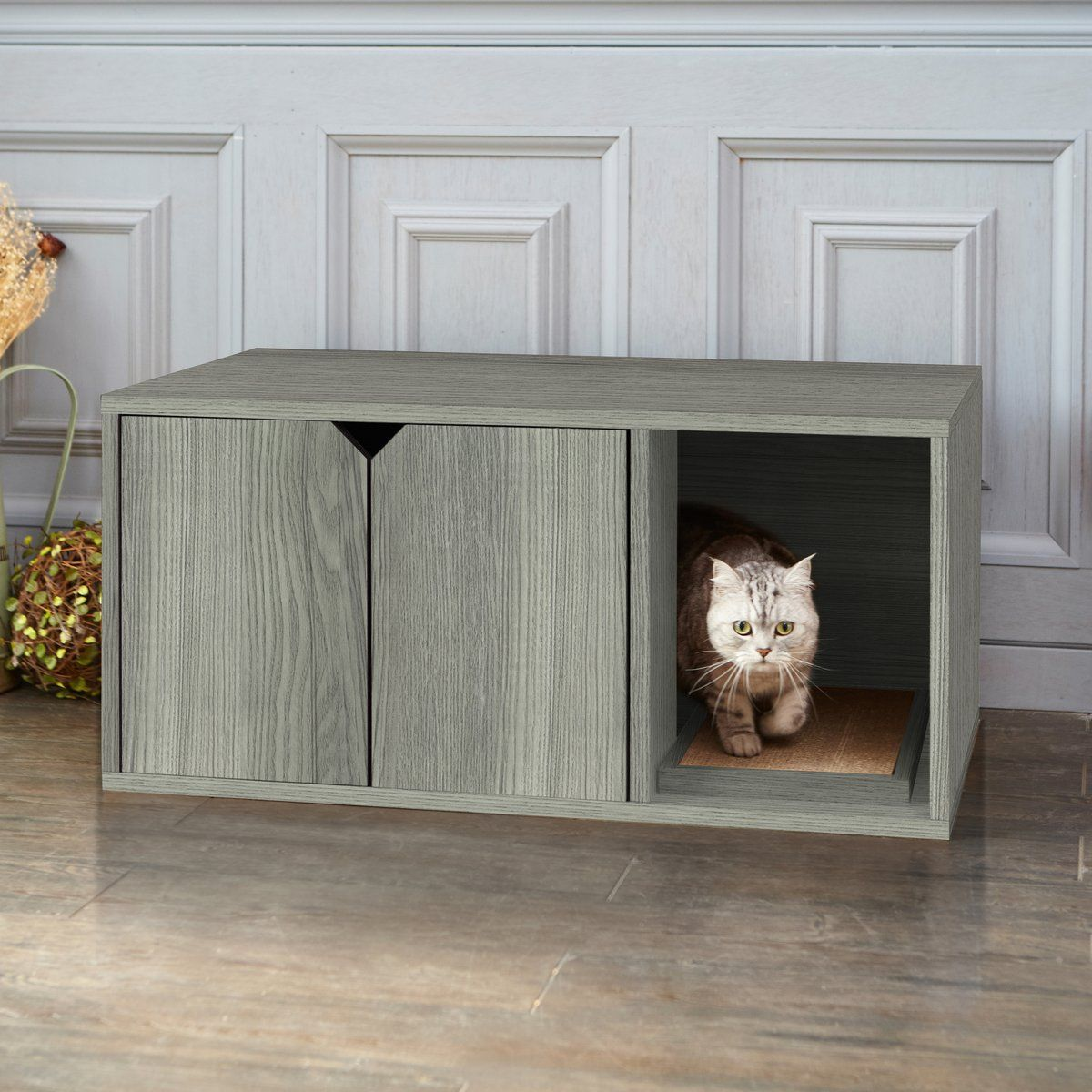 Cat Litter Box Enclosure Grey Cat Litter Box Furniture Litter Box Furniture Modern Cat Furniture