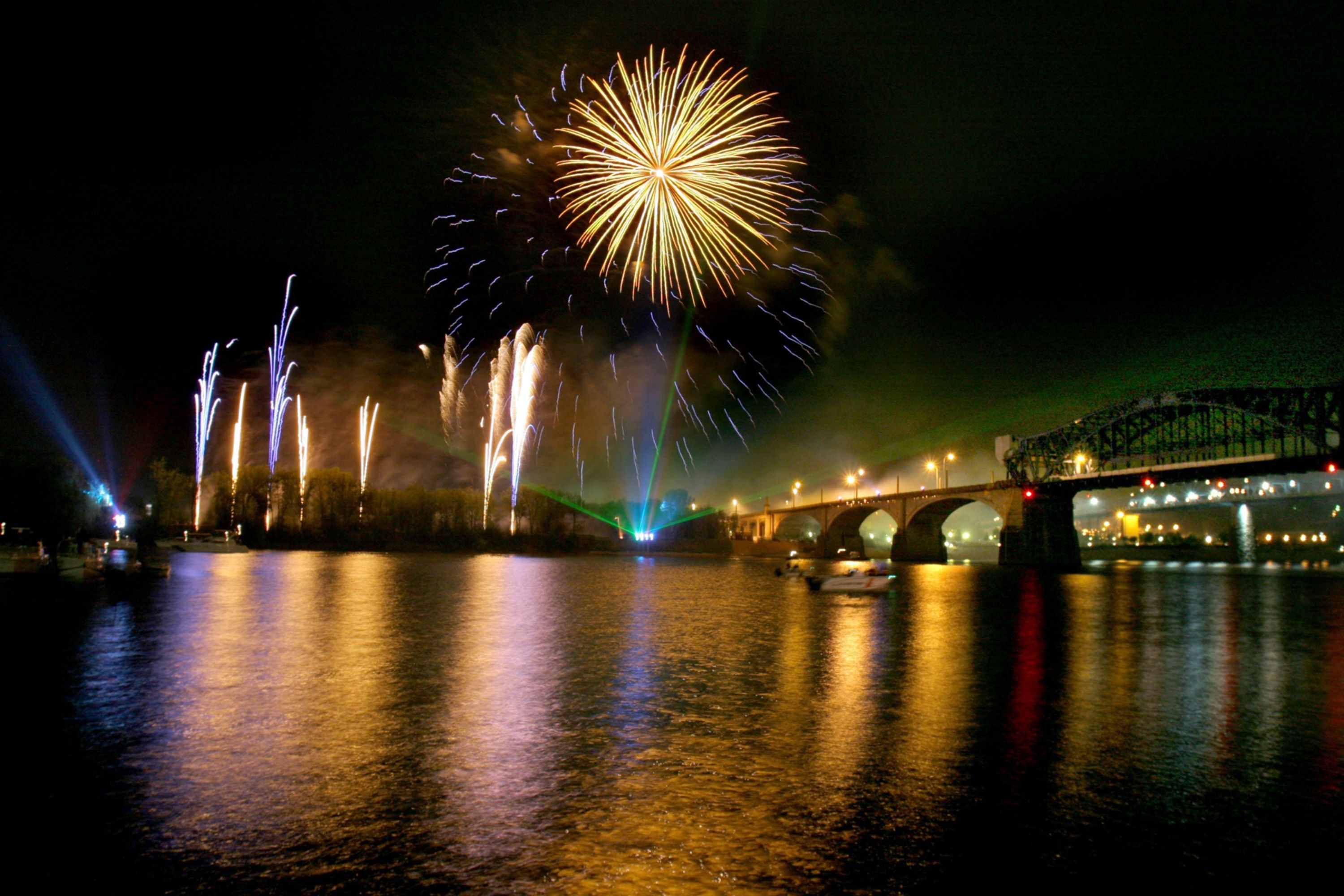 Fireworks over the Tennessee River | Places to See! | Pinterest ...