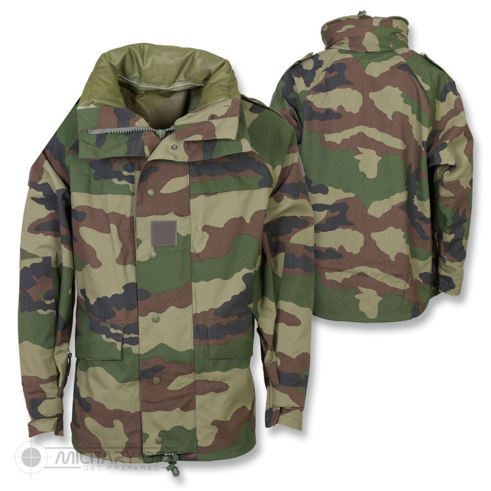 c9e94a3dc6f0d GENUINE FRENCH MILITARY ARMY GORETEX MVP CAMO WATERPROOF COMBAT JACKET CCE  FIELD…