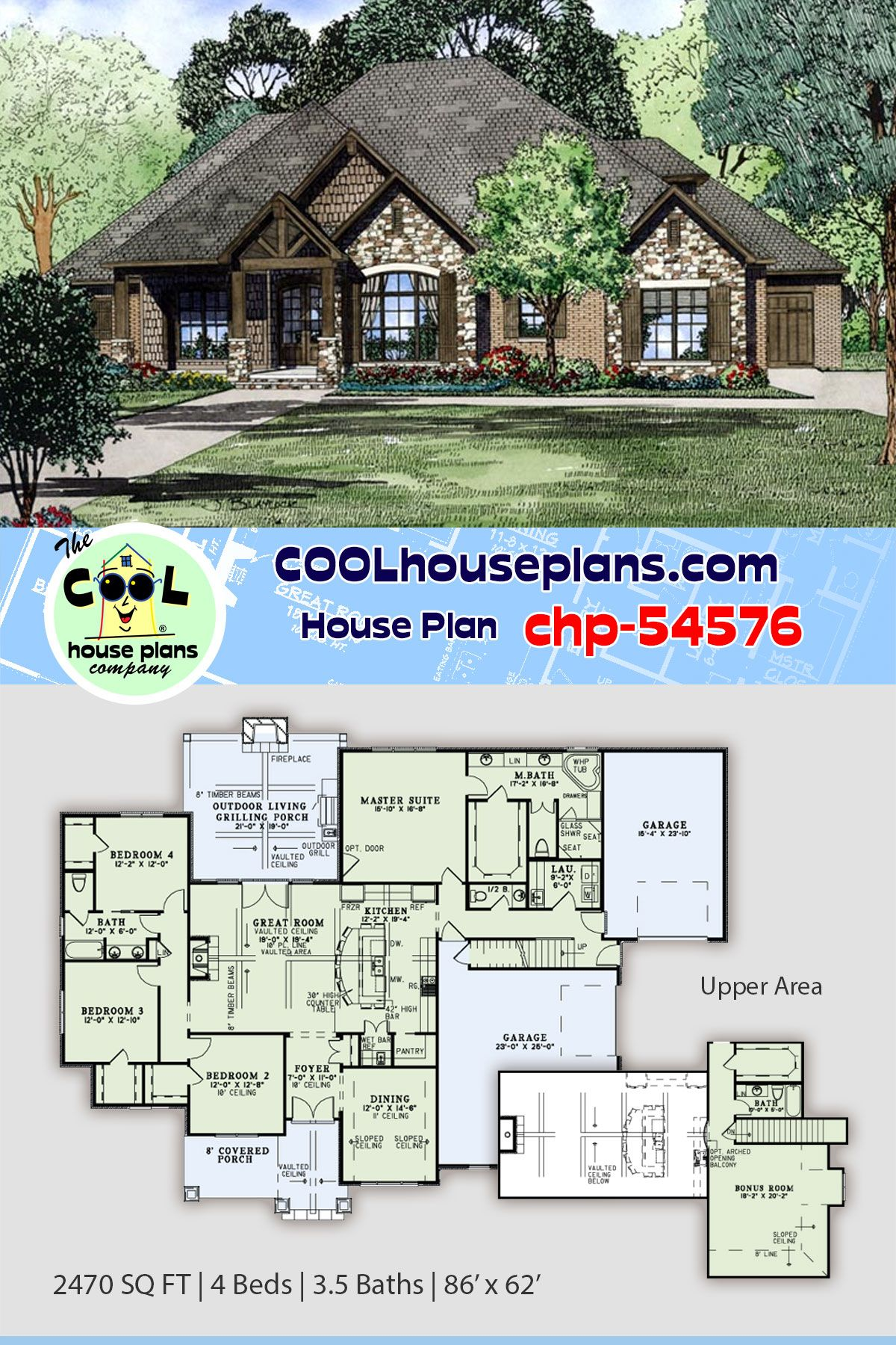 European Style House Plan 82230 With 4 Bed 4 Bath 3 Car Garage Craftsman Style House Plans Best House Plans European House