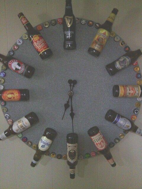 Wohnideen Hueter bottle clock cave wohnideen männer und