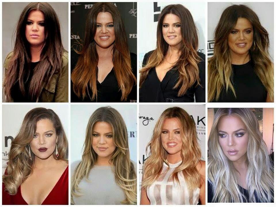 Khloe Kardashian Hair Transformation Dark Brown To Platinum Blonde