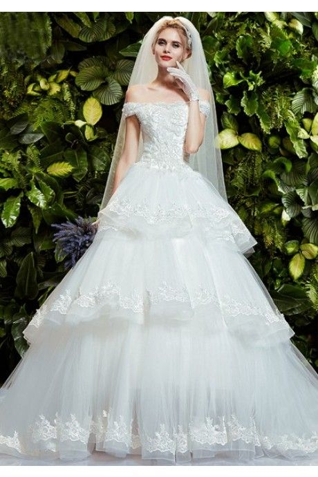 95c7724577085 ウェディングドレス 新婦 二次会 ドレス Halz0015 チュールのボールガウン