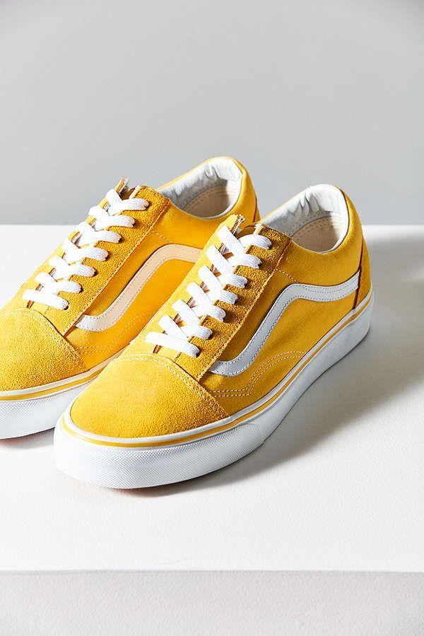 Vans Suede Old Skool Sneaker Sneaker Gelb Vans Schuhe Damen Gelbe Schuhe
