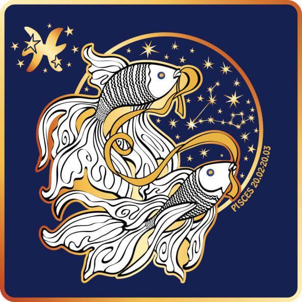 картинка знака гороскопа рыбы вверху