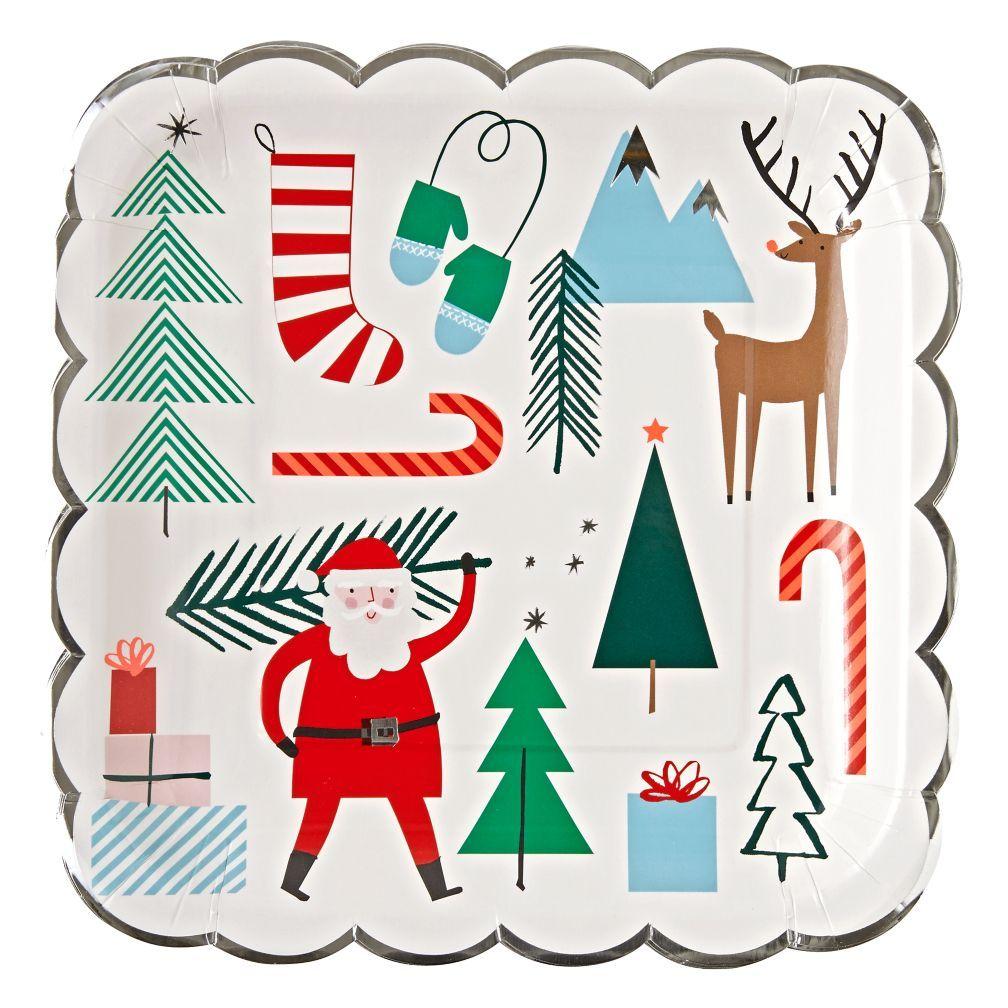 Christmas paper plates  sc 1 st  Pinterest & Shop Christmas Paper Plates. Create the ultimate Christmas party ...